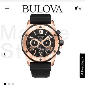 Bulova men's watch Marine Star (rose gold)